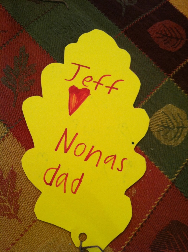 What was Tuck thankful for last year? Jeff. (Known as Dad).