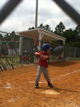 Tucker at bat